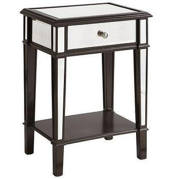 Tables - Hayworth Nightstand - Espresso I Pier 1 - mirror fronted nightstand, mirrored nightstand, espresso mirrored nightstand,