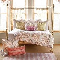 Bedding - John Robshaw Textiles - Nikolo - Bed Collections I John Robshaw - orange and pink bedding, orange and pink medallion bedding, indian print bedding,