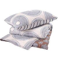 Bedding - John Robshaw Textiles - Lapis - Quilts & Shams I John Robshaw - indigo block print bedding, indian block print bedding, blue and white block print bedding, block print quilt,