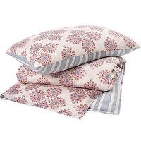 Bedding - John Robshaw Textiles - Periwinkle - Quilts & Shams I John Robshaw - red and blue block print bedding, block print quilt, indian block print bedding,