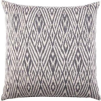 John Robshaw Textiles, Fog, Cotton Ikat, Pillows I John Robshaw