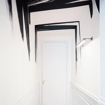 Brushstroke Painted Walls, Modern, entrance/foyer, Lonny Magazine
