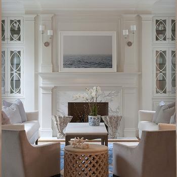 U Shaped Furniture Arrangement, Transitional, living room, Nightingale Design