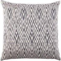 Pillows - John Robshaw Textiles - Fog - Cotton Ikat - Pillows I John Robshaw - gray ikat pillow, gray thai ikat pillow, thai ikat pillow,