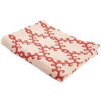 Bedding - John Robshaw Textiles - Perch - Printed Coverlets And Throws I John Robshaw - coral pink and ivory coverlet, coral pink and ivory patterned throw, coral pink and ivory patterned coverlet,