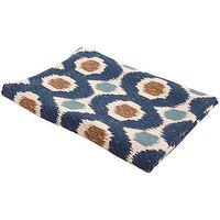 Bedding - John Robshaw Textiles - Palette - Printed Coverlets And Throws I John Robshaw - indian coverlet, blue ivory and brown coverlet, indian patterned coverlet, moorish coverlet,