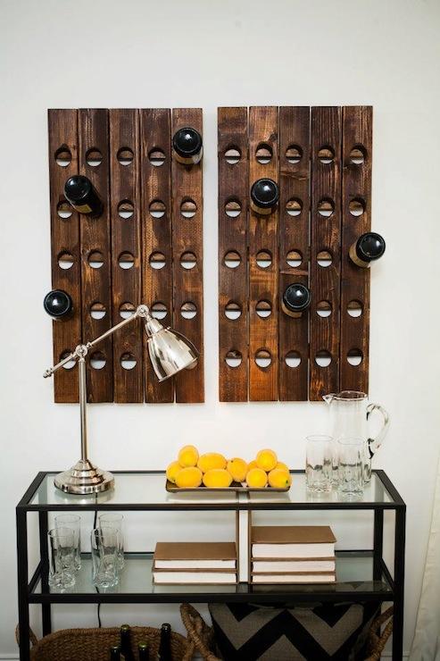 Riddling Wine Racks Cottage Living Room Sabal Homes Sc