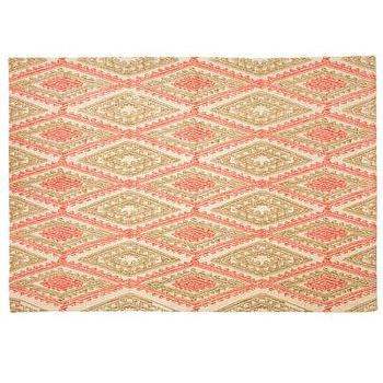 Decor/Accessories - John Robshaw Textiles - Aberdeen - Rugs I John Robshaw - dhurrie rug, pink and beige dhurrie rug, indian dhurrie rug,