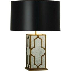 Lighting - Robert Abbey Addison Table Lamp I Amazon - weathered brass and antiqued mirror lamp, antiqued mirrored lamp, mirrored lamp with black shade,