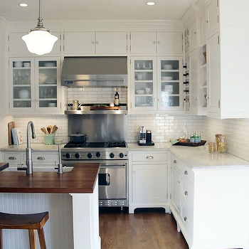 L Shaped KItchen, Cottage, kitchen, Taryn Emerson Interiors