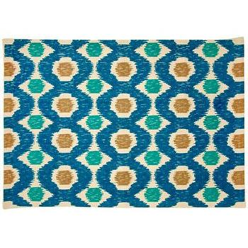 Rugs - John Robshaw Textiles - Weaver - Rugs I John Robshaw - blue green and gold rug, dhurrie rug, indian dhurrie rug,
