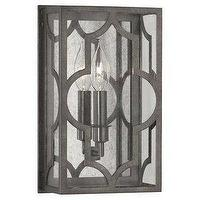 Lighting - Robert Abbey Addison One Light Wall Sconce I Amazon - nickel and antique mirror sconce, single antiqued mirrored wall sconce, antiqued mirrored sconce,