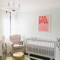 346 Living - nurseries - Sherwin Williams - Lighter Mint - girl nursery, girls nursery, girl nursery design, girls nursery design, mint walls, mint nursery walls, mint paint, mint paint color, mint nursery walls, mint nursery paint colors, martha stewart mirror, ikea curtains, ikea drapes, grosgrain ribbon curtains, grosgrain ribbon drapes, grosgrain ribbon window panels, tufted glider, nursery glider, glider, tufted glider, tufted nursery glider, gold pouf, moroccan leather pouf, gold moroccan leather pouf, gold leather pouf, striped rug, nursery rug, black and white rug, black and white striped rug, modern crib, white modern crib, babyletto cribs, babyletto hudson cribs, convertible cribs, babyletto convertible cribs, babyletto hudson convertible crib, newco gliders, nursery art, girl nursery art, girls nursery art,