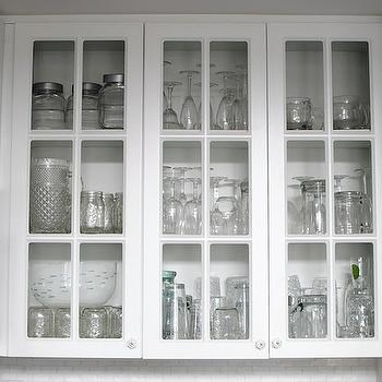 Glass Front Kitchen Cabinets, Transitional, kitchen, Grace Happens