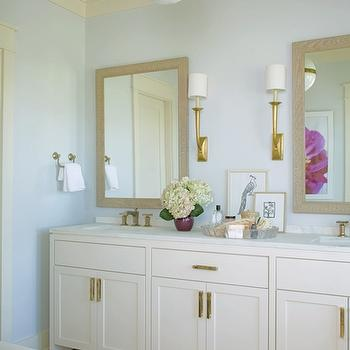 Cabinets with Brass Hardware, Traditional, bathroom, Structures Building Company