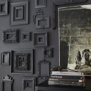 Black Rococo Frames, Eclectic, entrance/foyer