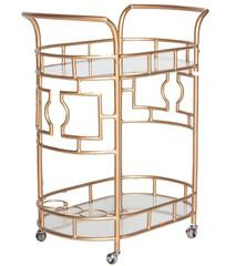 Storage Furniture - The Mrs.Lilien I Society Social - gold bar cart, retro style bar cart, vintage style gold bar cart,