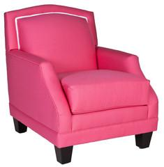 Seating - The Marilyn Lounge Chair I Society Social - bright pink upholstered lounge chair, contemporary lounge chair, pink lounge chair with contrasting welt,