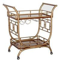Storage Furniture - The Devlin I Society Social - gold bar cart, retro style bar cart, vintage style bar cart,