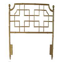 Beds/Headboards - Marcella Headboard I Society Social - gold faux bamboo headboard, gold chinoiserie headboard, chinoiserie style headboard,