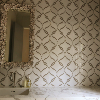 Seashell Encrusted Mirror,  Contemporary, bathroom, Urban Grace Interiors