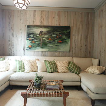 Wood Paneled Family Room, Cottage, living room, Urban Grace Interiors