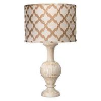 Lighting - Jamie Young Lighting Table Lamp Carved Bone Large I Layla Grayce - carved bone lamp, carved bone table lamp, lattice drum shade, taupe lattice drum shade,