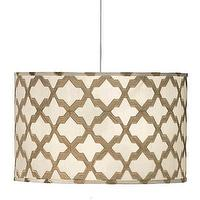 Lighting - Jamie Young Lighting Pendant Drum Extra Large I Layla Grayce - lattice drum pendant, taupe lattice drum pendant, drum pendant with lattice pattern,