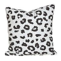 Pillows - Leopard Noir I Society Social - black and white leopard print pillow, leopard print pillow, black and white animal print pillow,