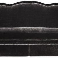Seating - Tayler Sofa | Vielle and Frances - charcoal gray sofa with nailhead trim, traditional velvet sofa, gray velvet sofa with nailhead trim,