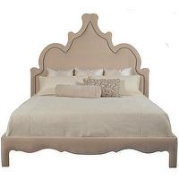 Beds/Headboards - Marrakesh Bed | Vielle and Frances - moorish shaped headboard, moorish shaped bed, moroccan shaped headboard with nailhead trim,