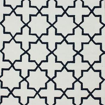 Rugs - Laney Trellis Area Rug in Royal Blue design by NuLoom | Burke Decor - white and blue moroccan area rug, royal blue and white trellis rug, moorish area rug,