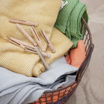 Decor/Accessories - Bamboo Herringbone Throw | Burke Decor - herringbone throw, yellow herringbone throw, green herringbone throw, orange herringbone throw, blue herringbone throw,