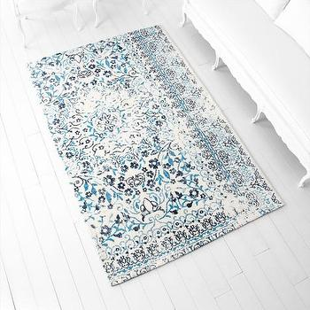Rugs - Toungoo Blue Rug | Vielle and Frances - blue and ivory rug, transitional blue and ivory rug, blue and ivory patterned rug,