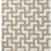 Rugs - Persia Reversible Area Rug in Lead and Shell | Burke Decor - geometric area rug, reversible geometric area rug, ivory and taupe geometric area rug,