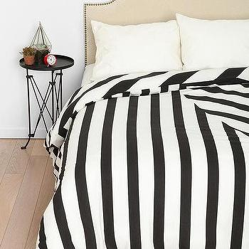 Bedding - Assembly Home Mixed Twist Duvet Cover I Urban Outfitters - black and white striped duvet, black and white striped bedding, black and white striped duvet cover,
