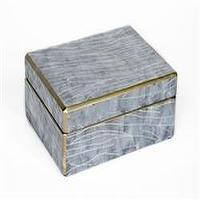 Decor/Accessories - Waylande Gregory Gray Marble Box I Zhush - gray faux marble box, decorative gray box, gray jewelry box,
