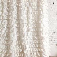 Bath - Waterfall Ruffle Shower Curtain I Urban Outfitters - white ruffle shower curtain, ruffled shower curtain, white ruffled shower curtain,