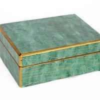 Decor/Accessories - Waylande Gregory Green Marble Box I Zhush - green decorative box, green faux marble box, green jewelry box,