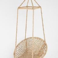 Seating - Fes Swing Chair I Urban Outfitters - jute swing chair, indoor swinging jute chair, wall hung jute chair,