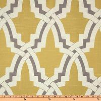 Fabrics - Duralee Bokara Yellow - Discount Designer Fabric - Fabric.com - trellis fabric, yellow and gray trellis fabric