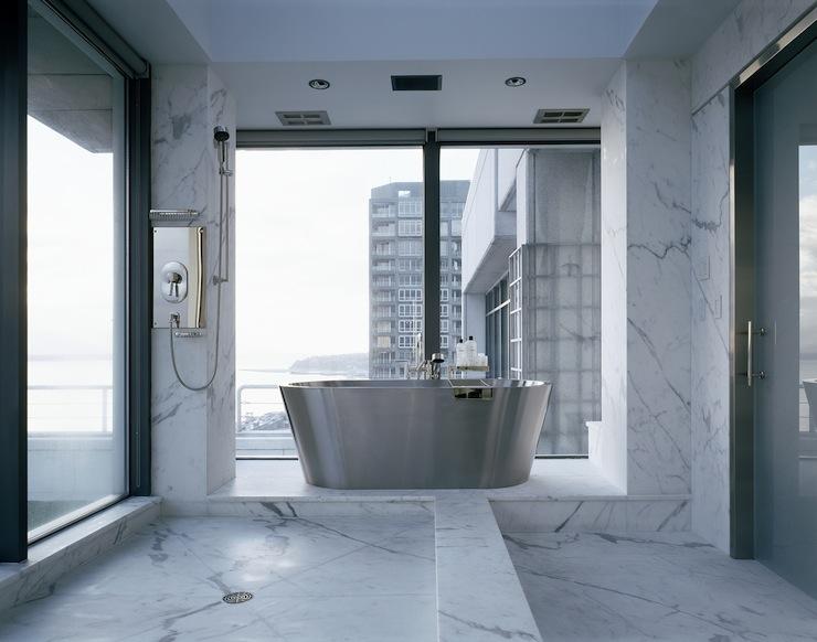 High Rise Marble Bathroom Modern Bathroom Toth