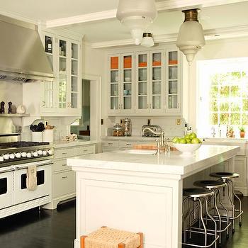 White Viking Range, Transitional, kitchen, Tim Barber