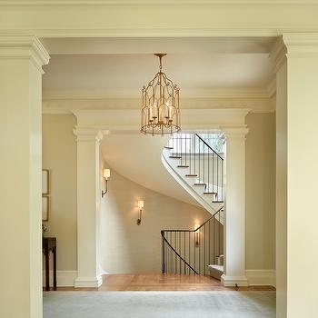 Doorway Columns, Traditional, entrance/foyer, Toth Construction