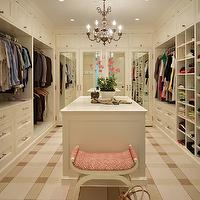 Toth Construction - closets: walk in closet, walk in closet design, closet design, closet cabinets, buil tins, closet built ins, walk in closet built ins, buil tin cabinets, closet built in cabinets, mirrored doors, cabinet doors, mirrored cabinet doors, closet island, closet chandelier, built in cubbies, closet cubbies, walk in closet cubbies, sweater cubbies, closet ottoman, plaid carpeting,