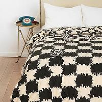 Bedding - Magical Thinking Geo Tuft Duvet Cover I Urban Outfitters - ivory and black duvet, two-toned duvet, black and ivory hounds tooth print duvet,