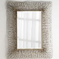 Mirrors - Champagne Strands Mirror I Horhcow - metal strand framed mirror, champagne framed mirror,