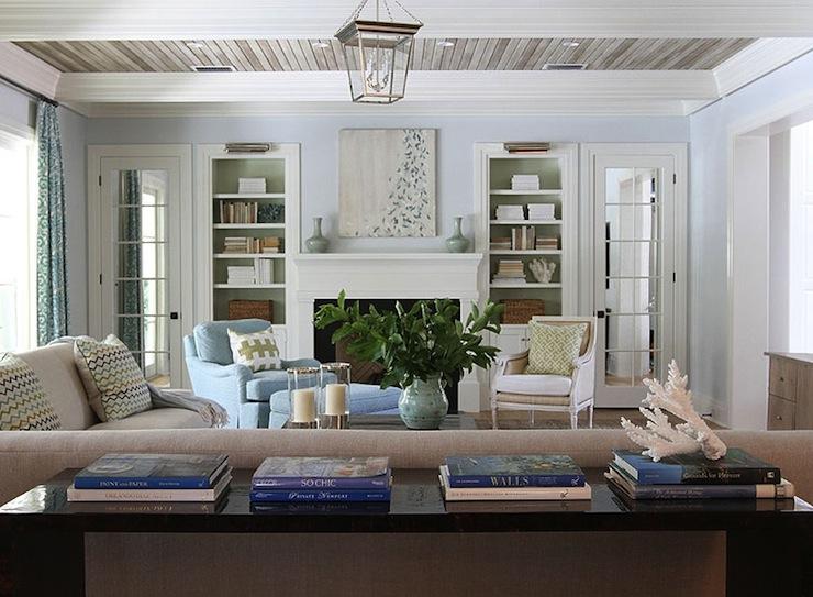 Beige And Blue Living Room Cottage Living Room