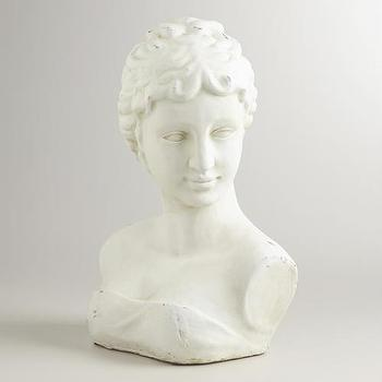 Decor/Accessories - Victorian Bust Tabletop Decor | World Market - victorian bust decor, bust decor, bust sculpture,