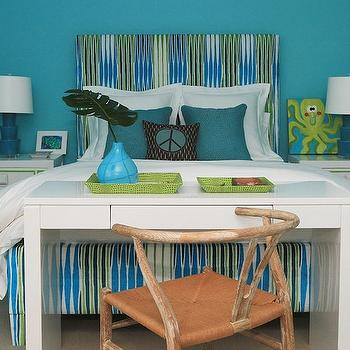 Turquoise and Green Girl's Room, Contemporary, girl's room, Andrew Howard interior Design